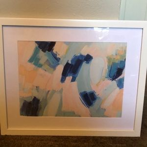 watercolor style print in frame
